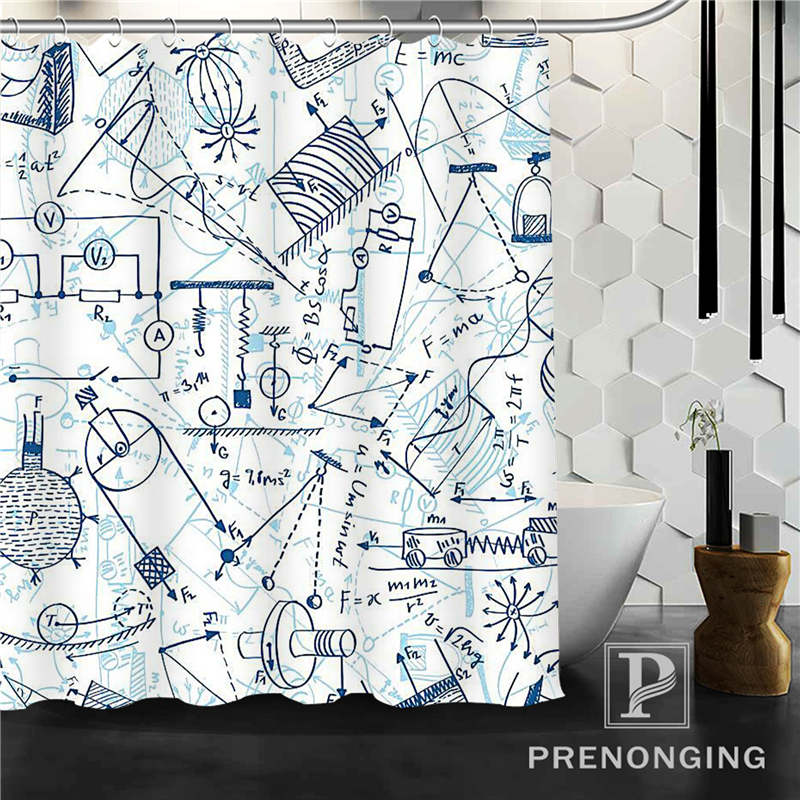 Finger of a Charming Woman in the back of Shower Curtain Gray Bathroom Curtains
