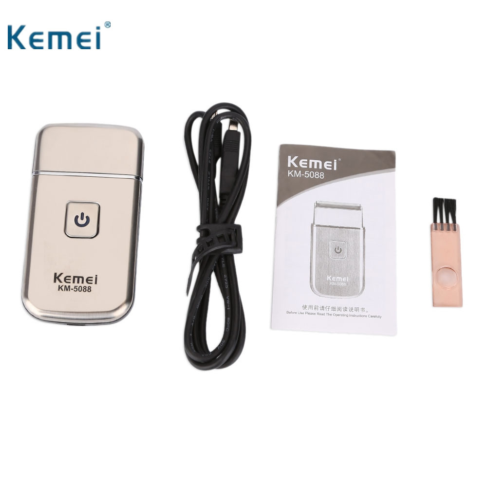 Kemei KM - 5088 Mini USB Rechargeable Reciprocating Blade Els