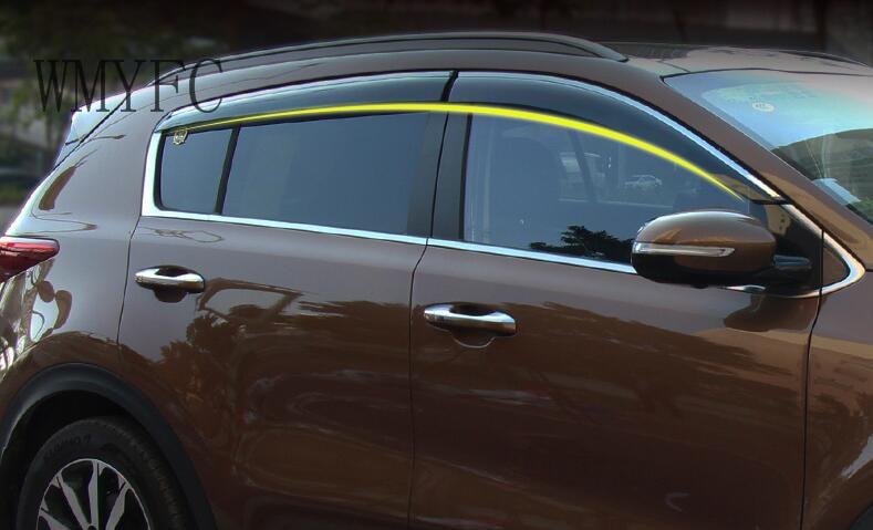 2017 Kia Sportage Accessories >> Us 75 05 21 Off Accessories Fit For Kia Sportage Ql 2016 2017 Window Visor Vent Shades Sun Rain Deflector Guard Awnings Car Styling In Chromium