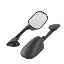 Black Left Right Side Rear View Mirrors For YAMAHA YZF R1 YZF-R1 YZFR1 2000-2001 Motorcycle