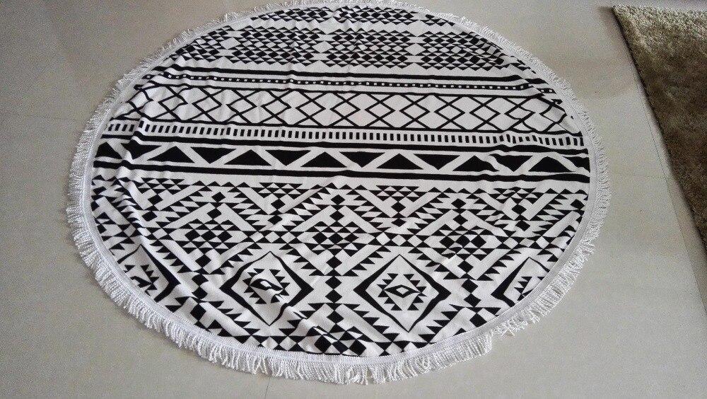 750gram-Summer-Large-Microfiber-Round-Beach-Towels-With-Tassel-Mandala-Tapestry-toalha-de-praia-Beach-Picnic