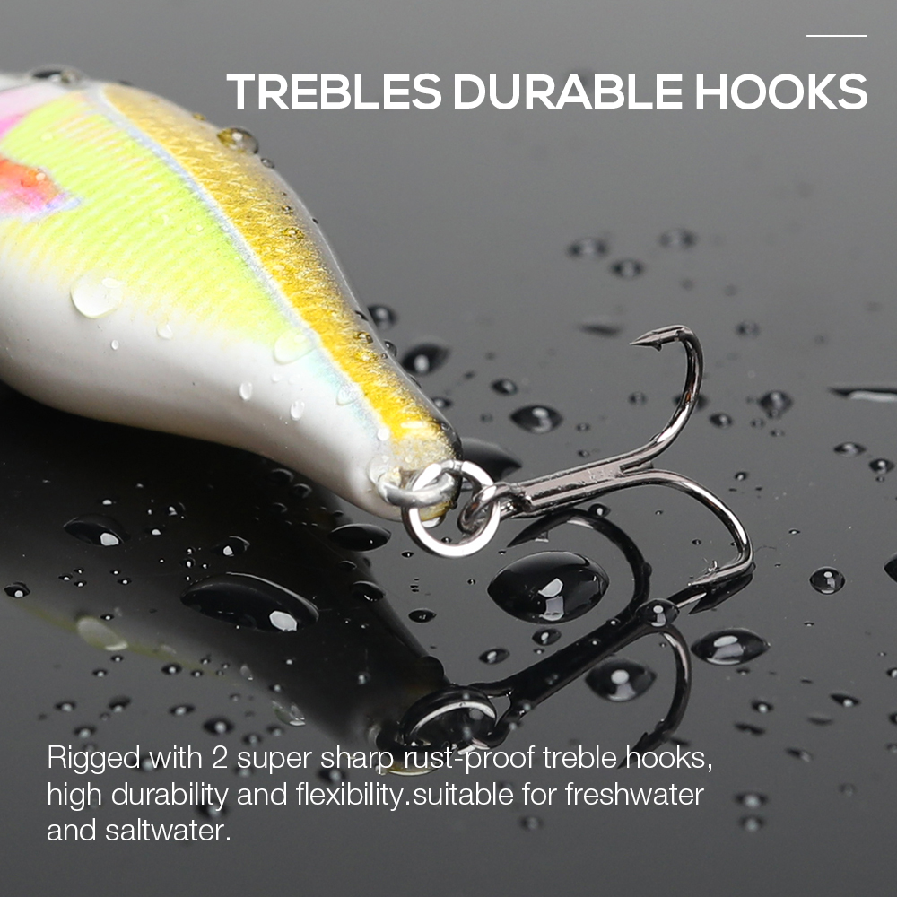 Image 3 - VTAVTA Fishing Lure Hard Bait 7.5cm 11g Wounded Minnow Wobblers Crankbait Peche Bass Artificial Baits Pike Carp Lures Swimbait-in Fishing Lures from Sports & Entertainment