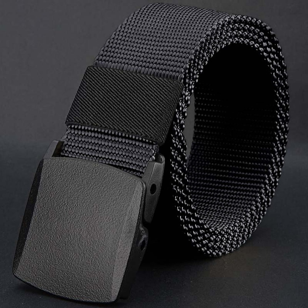 Acheter Hommes Toile Ceinture Hypoallergénique En Métal En Plastique  Automatique Boucle Ceinture Sauvage de automatic buckle ... 7558d4eb0e1