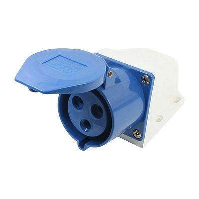 IEC309-2 Panel Mount 2P+E IP44 Blue White Industrial Socket AC 220V-250V 32A юбка new style цвет синий