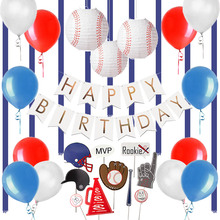 Baseball Theme Birthday Decoration Set Photobooth Props Paper Lanterns Party Supplies