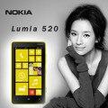 Original nokia lumia 520 dual core 3g wifi gps 5mp 8 gb de almacenamiento de 4.0 pulgadas desbloqueado los teléfonos windows mobile envío gratis