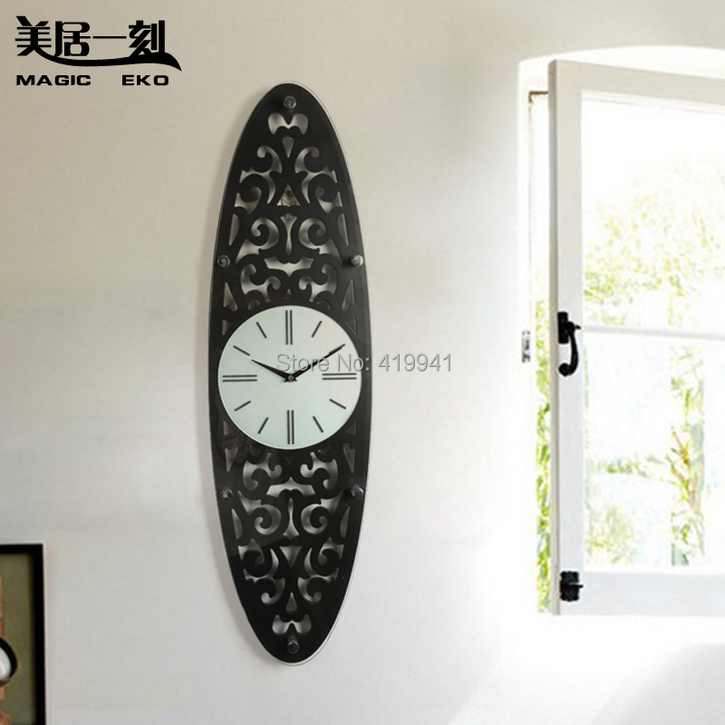 chinese style wall clock wool cutout sculpture classical ...