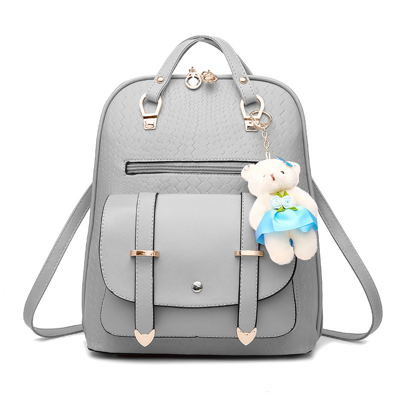 Women Lovely Girls School Backpacks Fashion Female Backpacks Shoulder Schoolbags for Teenage Girls PU Leather Small