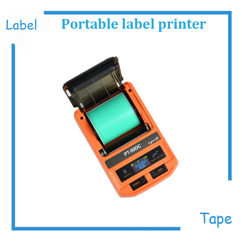 New Mini USB/Bluetooth/NFC portable label tape maker machine ribbon printer thermal label printer support IOS and Android