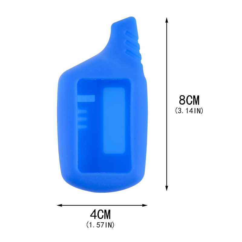 Chìa Khóa B9 LCD Dẻo Silicone Dành Cho Ban Đầu Starline B9/B91/B6/B61/A91/A61/V7 LCD Móc Chìa Khóa Ô Tô Điều Khiển Từ Xa 2 Cách Báo Động