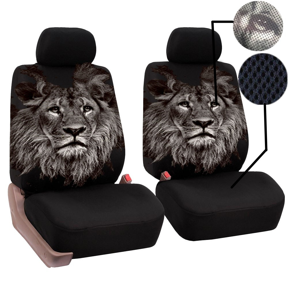 Nile Front Seat 2 Lion Print Car Seat Cover Cushion All-inclusive Four Seasons Universal Auto Seat Protector