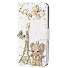 Crystal Rhinestone Wallet Leather Purse Flip Card Pouch Stand for Iphone4S 5S 5C 6/6P 7/7P for SamsungS3 S4 S5 S6E+ S7E s8P Case