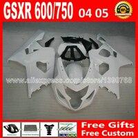 Abs для SUZUKI глянцевый белый плоский черный GSXR 600 750 зализа 2004 2005 пластиковые K4 RIZLA версия gsxr600 CTN GSX R750 04 05 795