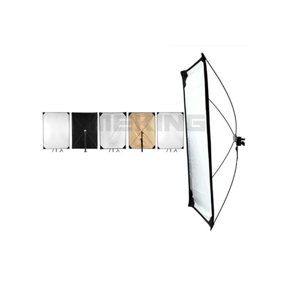Meking 5in1 150*200 센치메터 59*79 인치 반사판 사진 광장 조명 제어 패널 시스템 직물