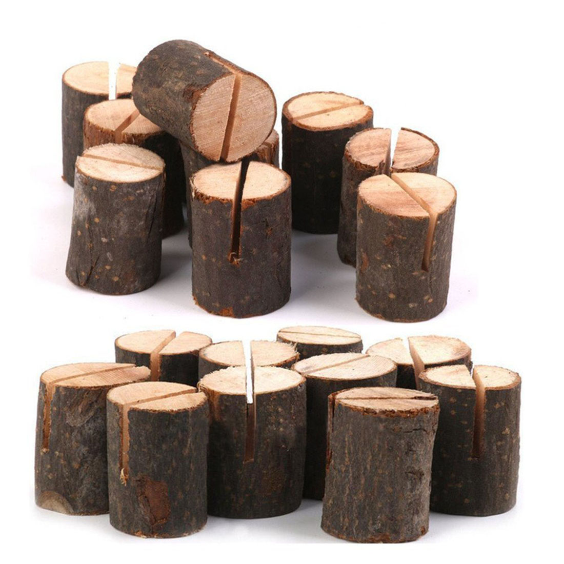 все цены на Hot sale Rustic Wood Table Numbers Holder Wood Place Card Holder Party Wedding Table Name Card Holder Memo Note Card (40pcs)