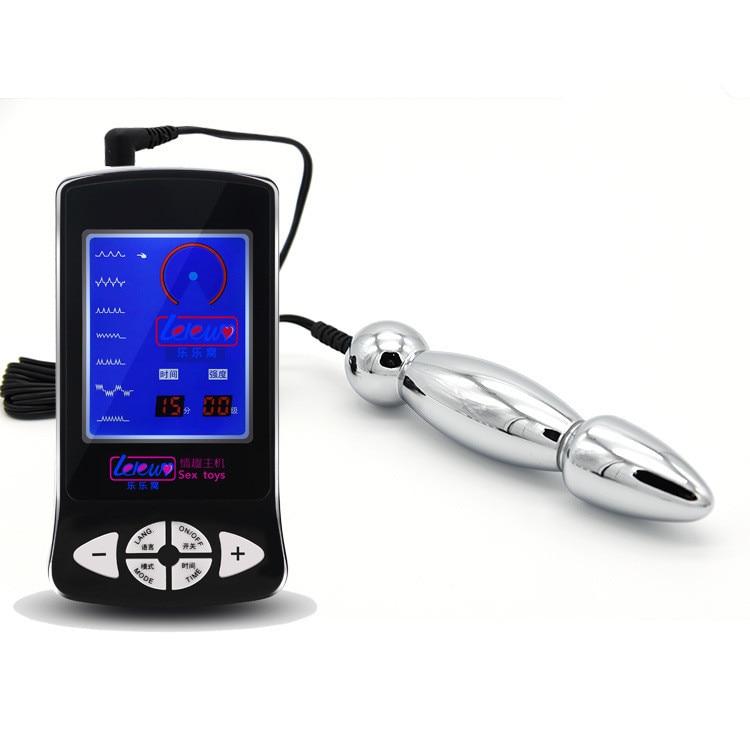 Diy Electric Shock Kits Metal Anal Butt Plug Dildo Electro -8660