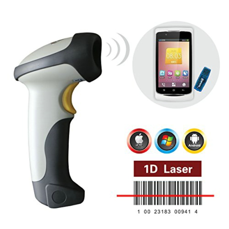 ce fcc rohs ct10 portable handheld wireless bluetooth 1d barcode scanner memory for android ios. Black Bedroom Furniture Sets. Home Design Ideas