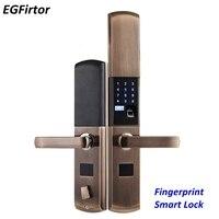 Цифровой блокировщик отпечатков пальцев умный замок биометрический отпечаток пальца электронный дверной замок автоматический для дома с