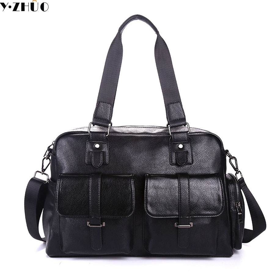 famous brand leather man big travel bag designer handbags tote shoulder bag male weekend duffle bag fashion crossbody bags