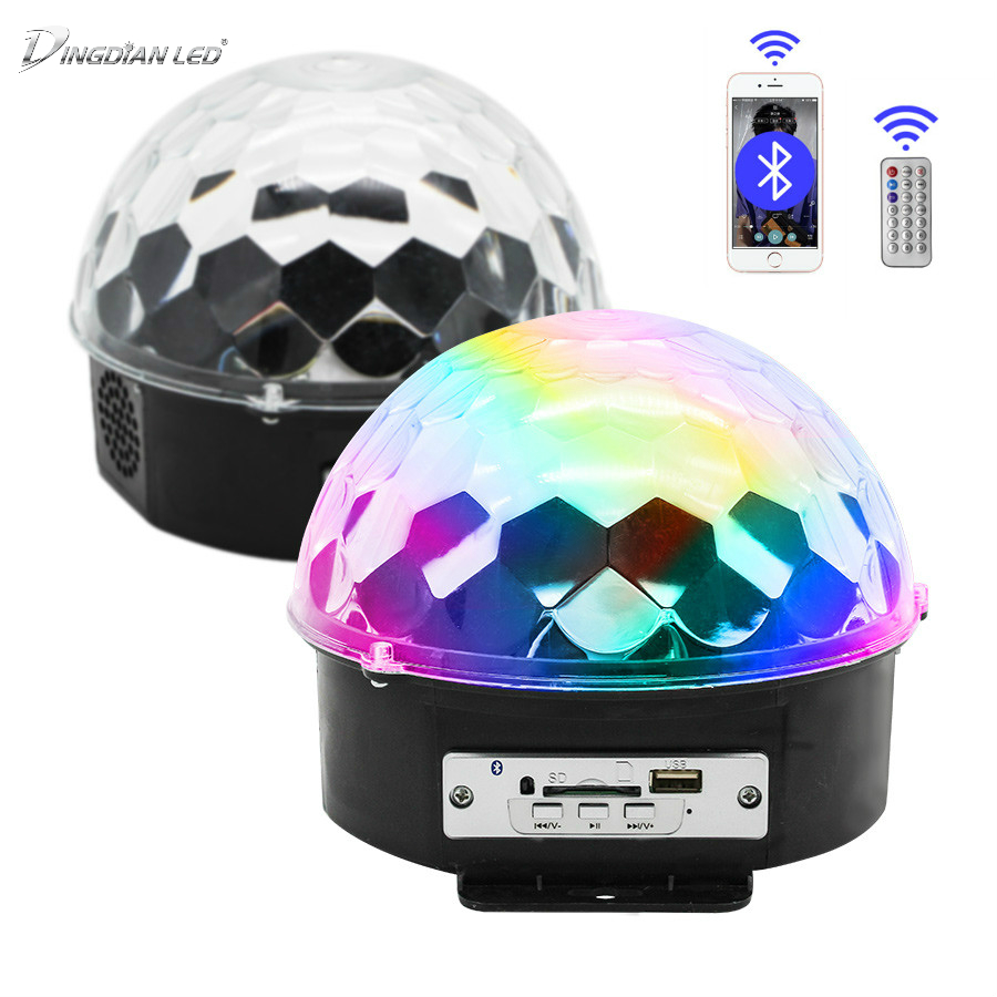6W Led Disco Light Stage Lights DJ Disco Ball Lumiere Sound Activated Laser Projector effect Lamp Light Music Christmas Party 30 in LED Bulbs Tubes from Lights Lighting