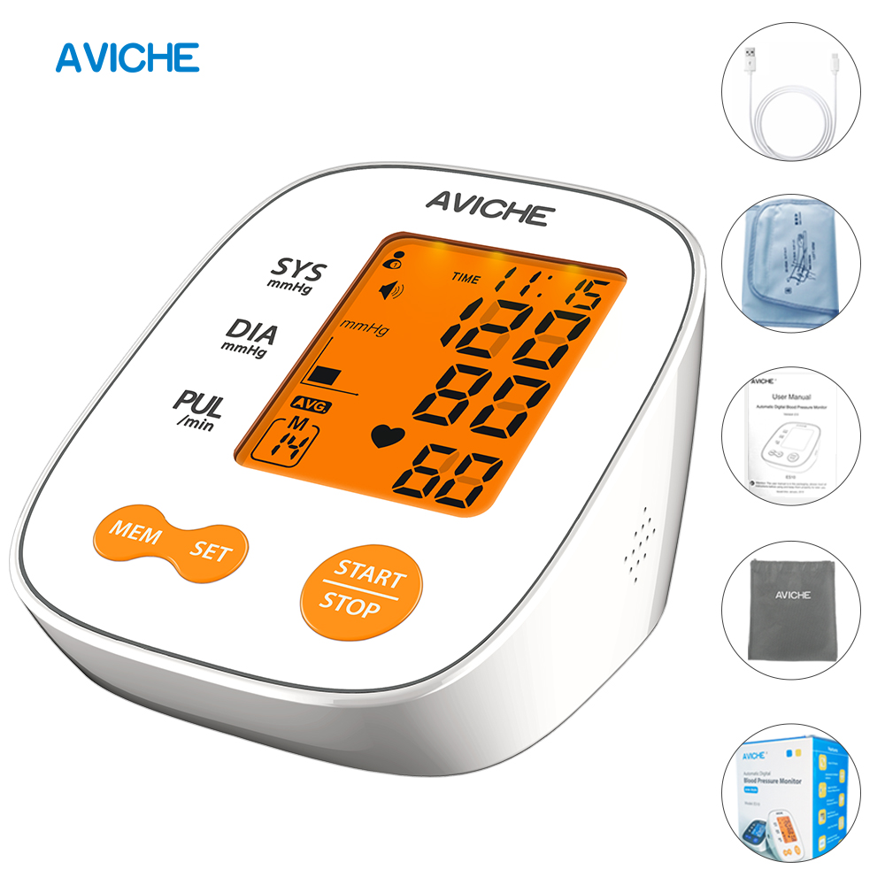 Automatic Digital Arm Blood Pressure Monitor Backlight LCD Talking Heart Beat Rate Pulse Meter Tonometer SphygmomanometersAutomatic Digital Arm Blood Pressure Monitor Backlight LCD Talking Heart Beat Rate Pulse Meter Tonometer Sphygmomanometers