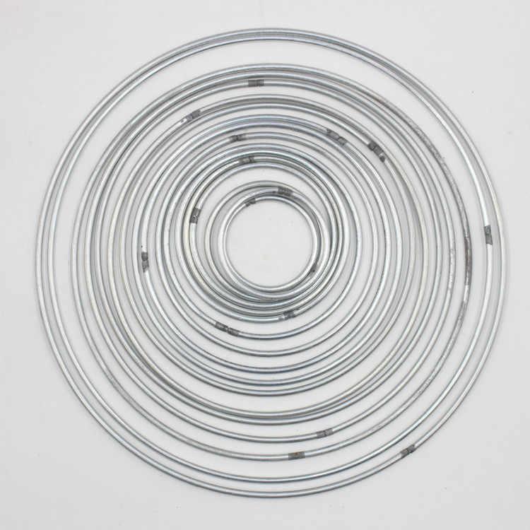 130-200 мм сильные металлические серебряные серьги-гвоздики Богемия кольцо макраме ремесло обруч много потрясающий