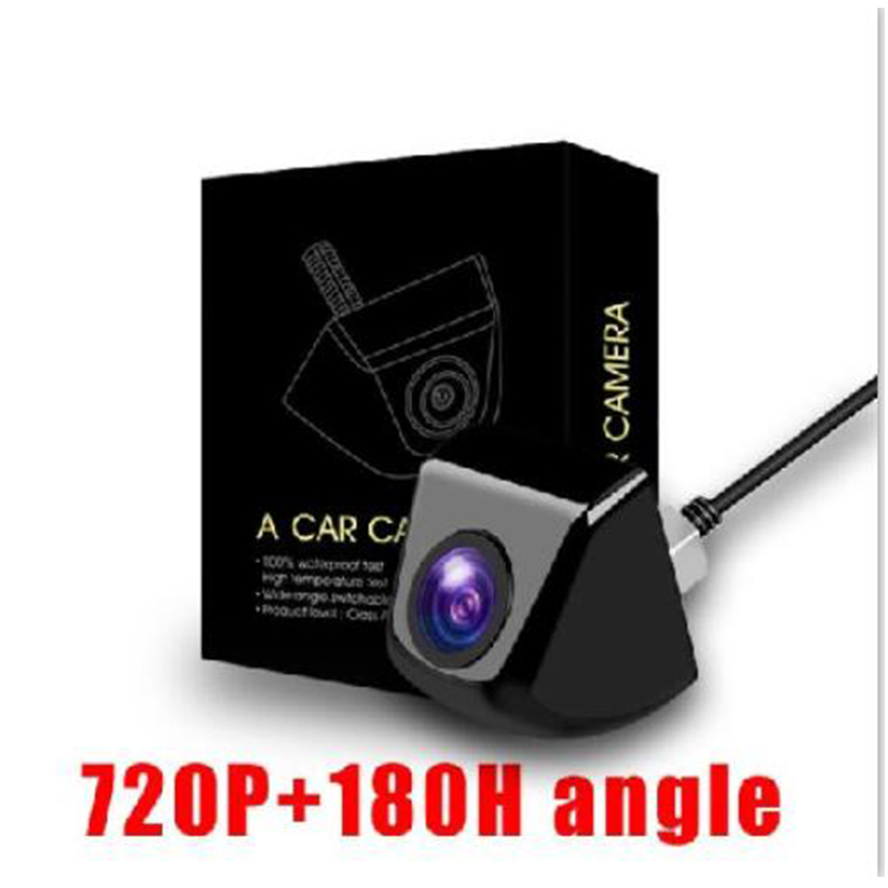 High Quality Night Vision Car Reverse Camera 180 HD Wide Angle Vehicle Camera PAL/NTSC Switchable Waterproof Cameras Wholesale