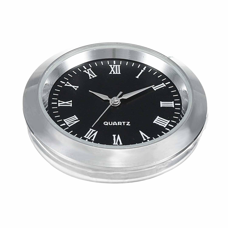 """Миниатюрные часы с кварцевым механизмом, круглые 1 7/16 """"(35 мм), миниатюрные часы, подходят для черного лица, серебристого цвета, ободок с римскими цифрами"""