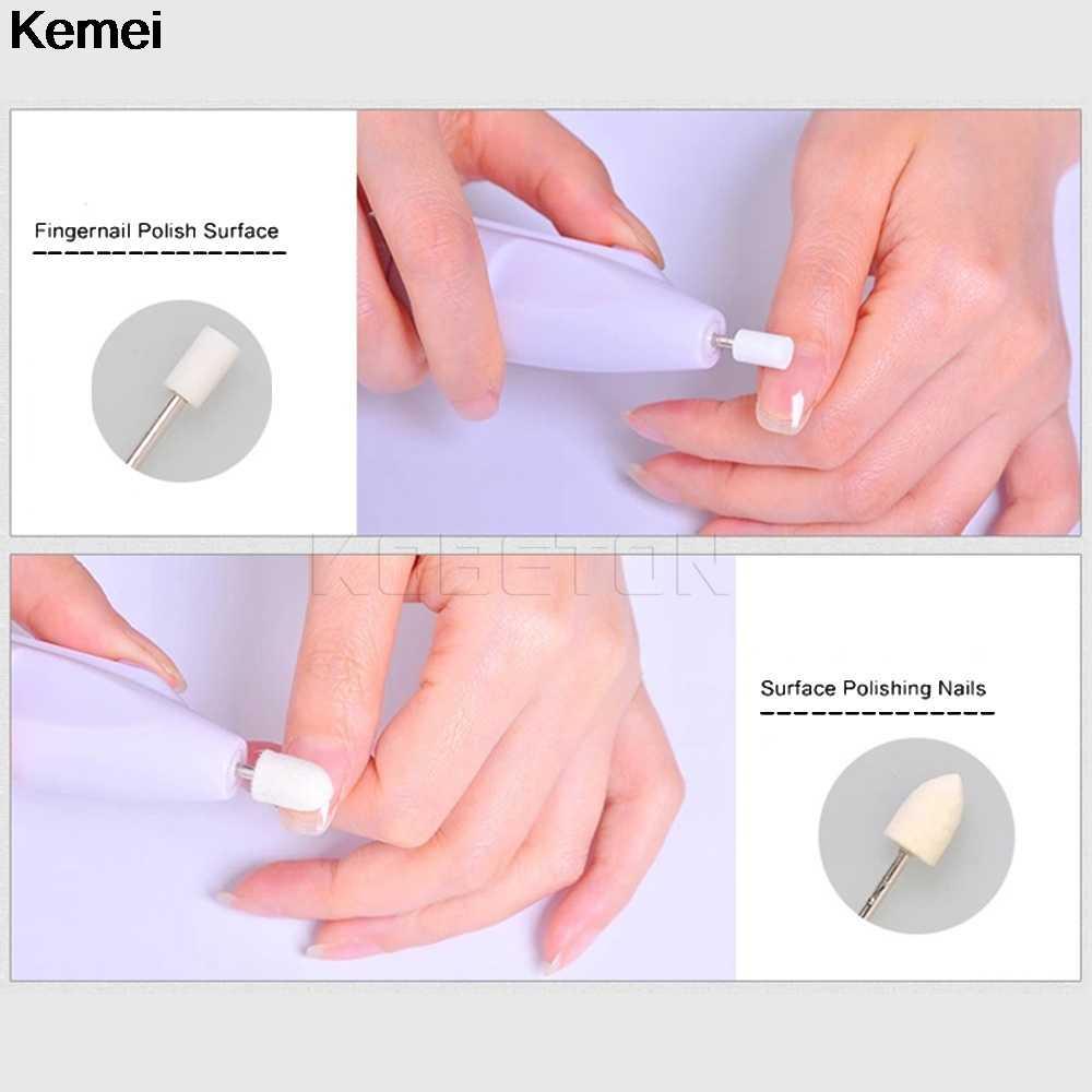 1 Set di 5 Bit Pro Trivello Elettrico Del Chiodo Macchina Unghie Artistiche Attrezzature Manicure Pedicure Manipolo Lime Carve Grinder Lucidatore Strumento