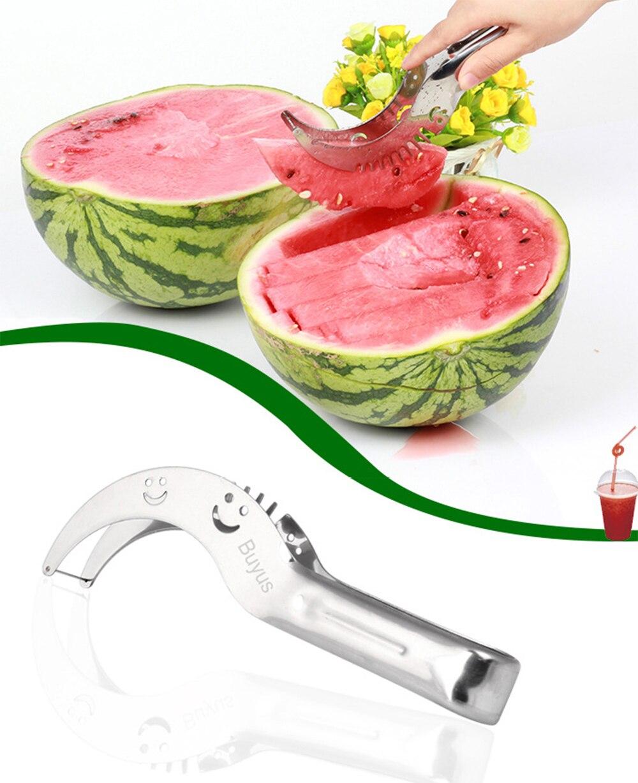 Hot Sale Stainless Steel Watermelon Slicer Fruit Cutter Kitchen Gadget