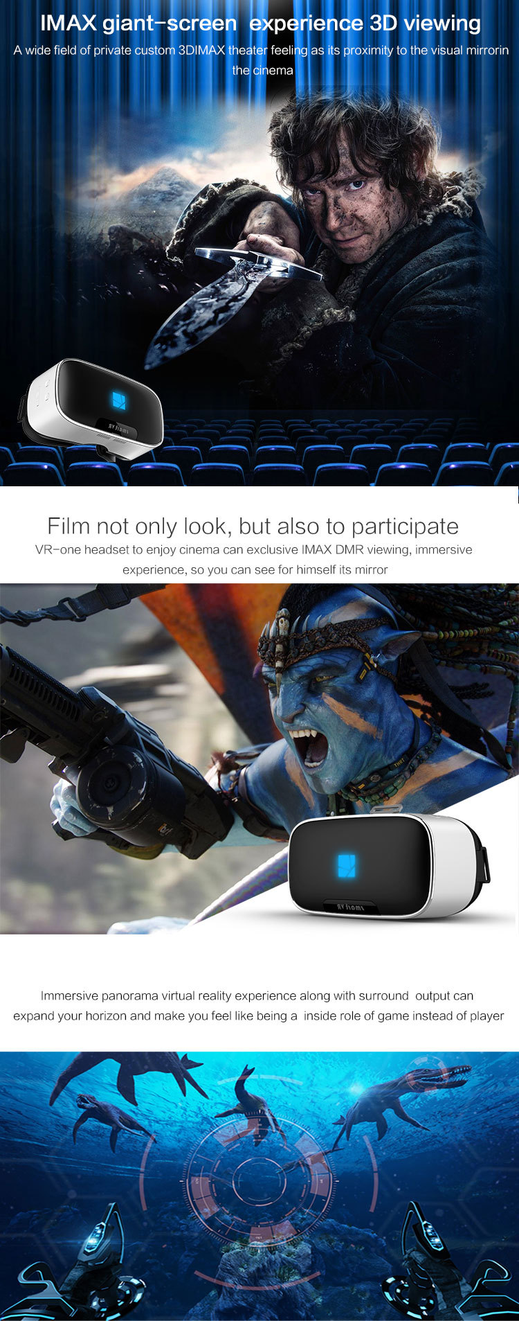 V1 VR Glasses Helmet 3D All in One VR BOX 2K Full HD LCD Screen Display Panorama 360 Degree Headset Game Virtual Reality Glasses