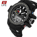 TTLIFE Brand Dual Display Watches Male Outside Sport Hiking Water Resistant Electronic Watch Multifunctional Wrist Watches