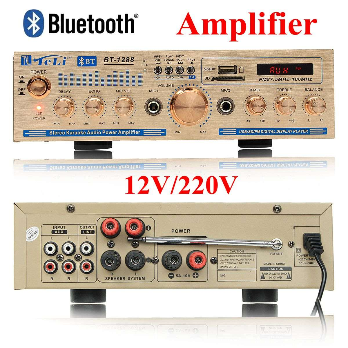 2100w Amplifier Bluetooth 12v 220v Stereo Audio For Car 5000w High Power Circuit Electronic Design Home 2ch With Card Radio Dc In Multichannel Amplifiers From
