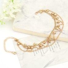 Women  Gold Metal  Ankle Bracelet