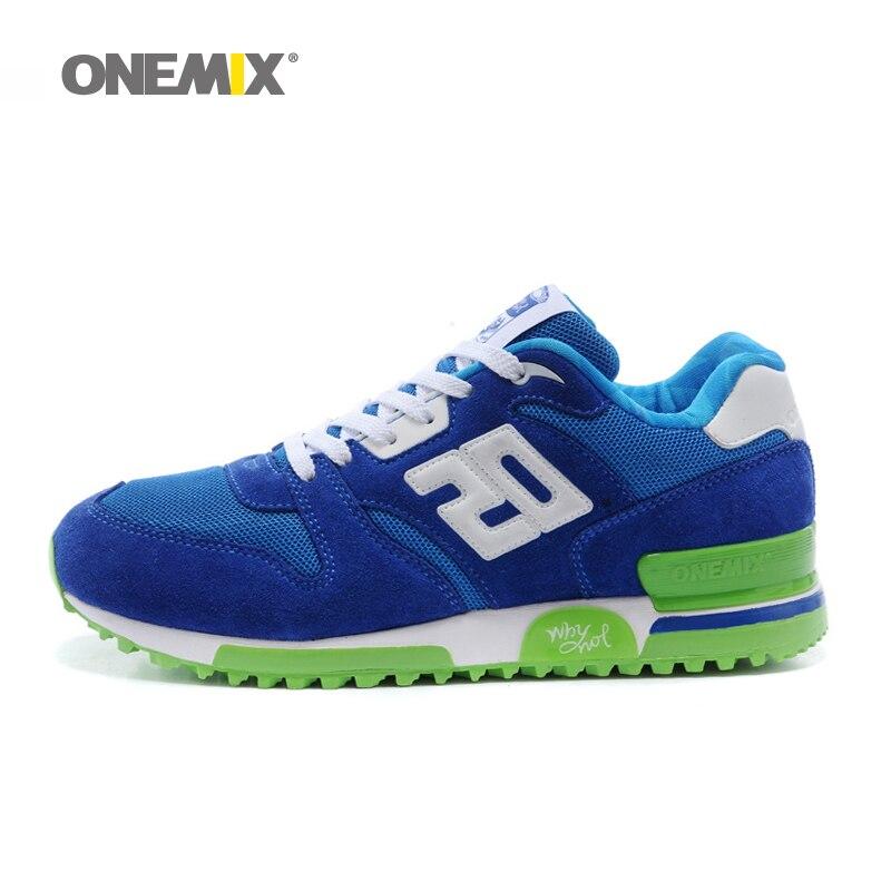 ONEMIX Новый Для мужчин s из натуральной кожи ткани Ретро медленный бег обувь кроссовки спортивная обувь для Мужская обувь Для мужчин Спортивн...