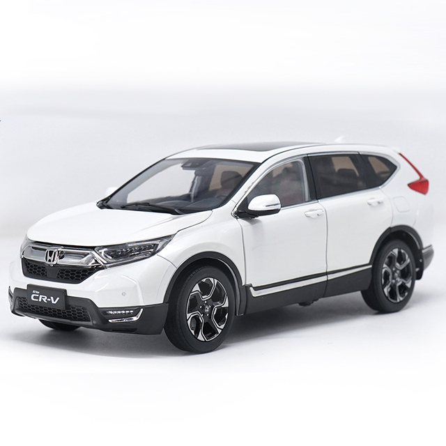 1 18 Cast Model For Honda Cr V 2017 White Suv Alloy Toy Car Collection Crv