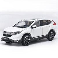 1 18 Diecast Model For Honda CR V 2017 White SUV Alloy Toy Car Collection CRV
