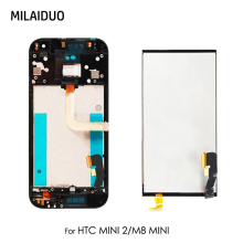 цены LCD Display For HTC One M8 Mini Touch Screen Digitizer LCD For HTC Mini 2 Assembly Replacement Black with Frame 4.5