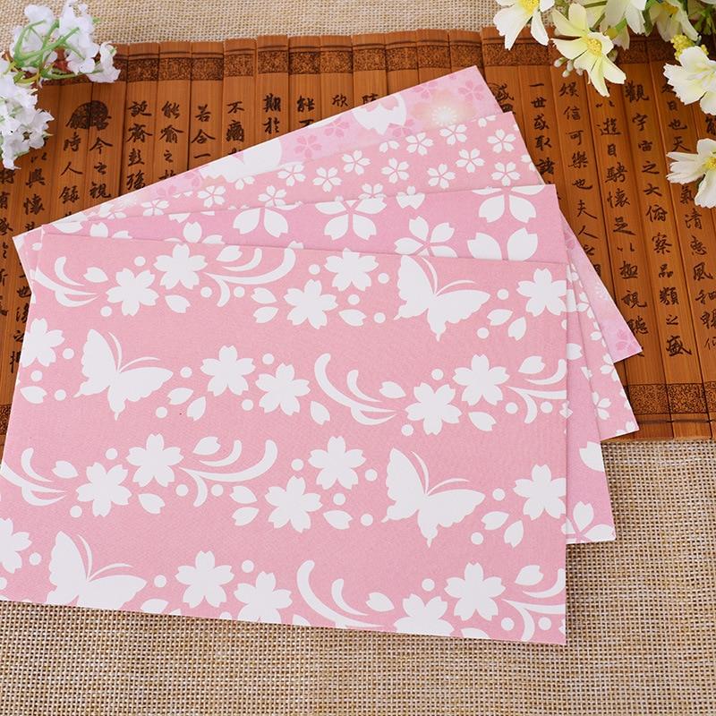 2016 10Pcs/set Kawaii Sakura Envelope Romantic Series Lover Letter Storage Paper Bag Window Hot Sale Pink Envelope