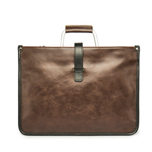 Retro Briefcase Men's Single Shoulder Bag Package Business Package To Work Family Easy To Carry Data Arrangement for Ipad 10inch