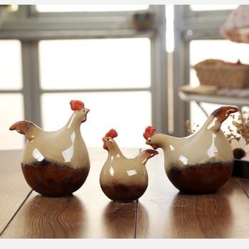 set Creative ceramic household decoration wine cabinet creative ceramic family chicken home decoration wedding