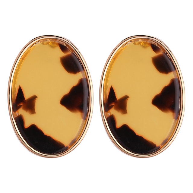 Geometric Shaped Stud Acetic Acid Earrings Fashion Vintage Statement Korean Women Birthday Gifts Mothers Day
