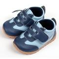 Кожа ребенка кроссовки свободного покроя детская обувь синий малыша детей обувь мокасины детские кроватки обувь для мальчики впервые уокер