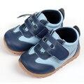 Zapatillas de bebé de cuero zapatos de bebé ocasionales azul niño niños zapatos mocasines zapatos del pesebre del bebé para niños bebés primer caminante