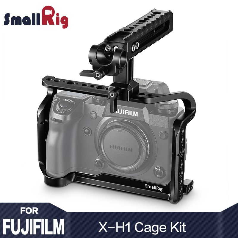SmallRig H1 Cage For Fujifilm X H1 Camera Cage Form Fitting With Nato Rial Built in Arca Swiss plate With Top Handle 2135