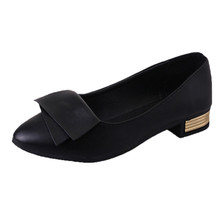 Classic Shoes Women Casual Pointed Toe Black Wedding Office Lady Shoes for Women Flats Comfortable Slip on Women Shoes