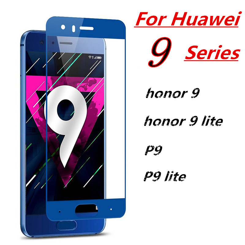 Tempered Glass For Huawei P9 lite Full Cover Screen Protector For Huawei honor 9 lite Film On huawe P9 light protctive on hono 9