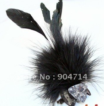 clothing accessorie Diamond gem flash gauze feather brooches corsage/Feather tassels brooches/corsage brooch/personalized badges