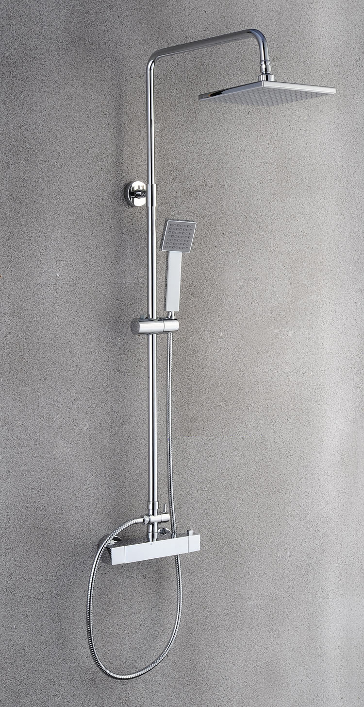 Stainless steel big rainfall shower faucet cold and hot water shower head set - 2