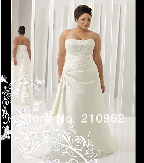 E79 European And American Diamond Fat People Kind Wedding Dress Custom Embroidery Lace Was Thin